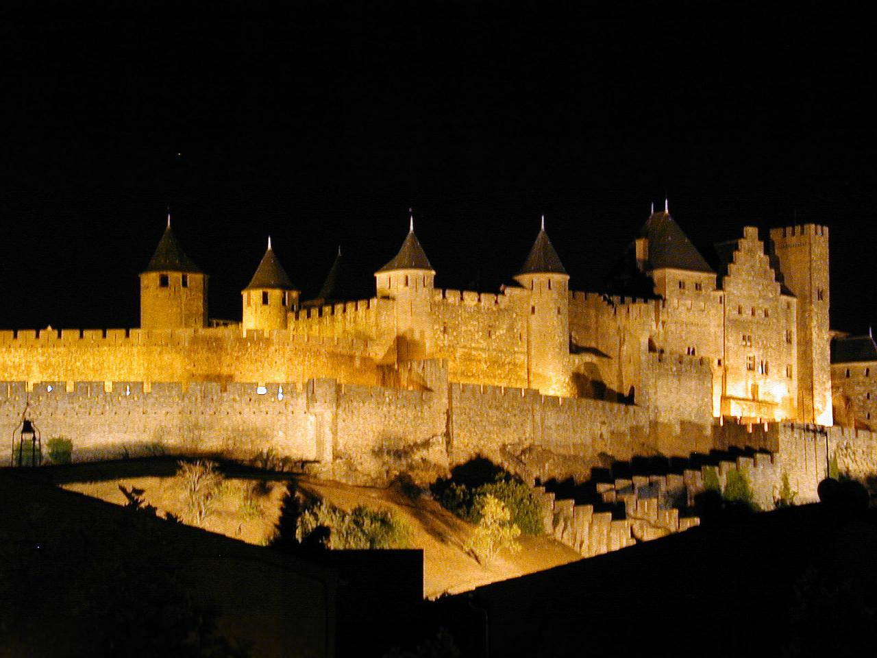 The Medieval Castle by night